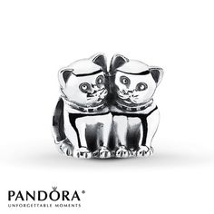 Pandora Charm Purrfect Together  Sterling Silver. So cute! Need this for my best friend!
