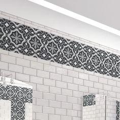 Accent Tile Bathroom, Shiplap Bathroom, Bathroom Flooring, Kitchen Flooring, Bathroom Wall, Master Bathroom, Thing 1, Amazing Bathrooms, Small Bathrooms
