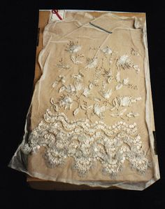Lesage Embroidery :: white :: cream :: antique :: vintage :: floral :: elaborate :: detail ::