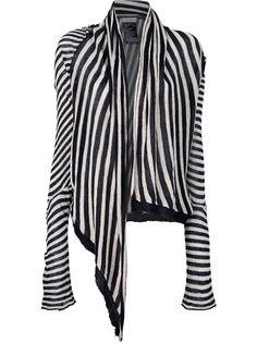 ANN DEMEULEMEESTER - open contrast stripe cardigan 1