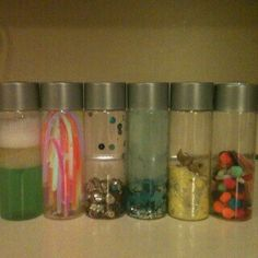 Lots and lots of ideas about Sensory Bottles - How to make them, how children might use them, etc. Awesome!
