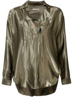 Shop Nina Ricci metallic blouse.