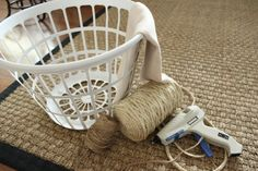 I love this basket!  I have to make this Ballard Knock-off. |The Wood Grain Cottage