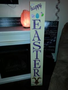 Check out this item in my Etsy shop https://www.etsy.com/listing/490113958/vertical-happy-easter-porch-wood-sign