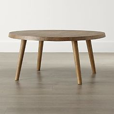 Mid Century Vibe Edgewood Round Coffee Table