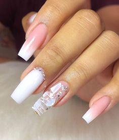 Polygel Nails, Swag Nails, Hair And Nails, Manicure, French Tip Acrylic Nails, Long Acrylic Nails, Long Cute Nails, Nail Art Designs Videos, Cute Acrylic Nail Designs