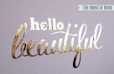 Gold foil embellishment