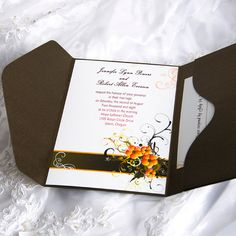 Gorgeous Flower Pocket Wedding Invitation FT014 [FT014] - $0.00 : Cheap Wedding Invitations Free Response Card & Printed Envelops @ V.P