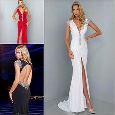 Beaded Sexy V Neck Split Front Cap Sleeve Red White Chiffon Slim Long Women Engagement Prom Dresses 2015 Vestido de Festa