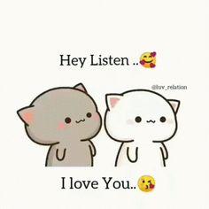 Love You Gif, Cute Love Gif, Cute Love Memes, Cute Bear Drawings, Cute Kawaii Drawings, Cute Love Pictures, Cute Cartoon Pictures, Love Cartoon Couple, Cute Love Cartoons