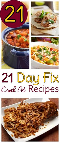 Use these 21 Day Fix Crockpot recipes for your next 21 Day Fix and set yourself up for success! Time to break out the Crock Pot and getting cooking.