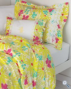 Love the Lilly print!  Maybe paint the inside of the closet turq/teal as an accent?