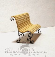 Square bench made of barbecue stick and soda can | Women's Crafts & Humor
