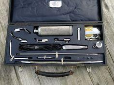 Vintage Inspection Set voor de Medisch/Optisch specialist.