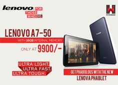 New Lenova Phablet 16GB at Rs. 9900/- Avail this Republic Day special offer Now @MyWannaDO - http://shopping.mywannado.com/lenovo-a7-50-tablet-16-gb-wifi-3g-voice-call-61917.html?utm_source=pinterest&utm_medium=social&utm_campaign=banner_1_21_2015