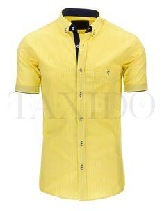 Pánská stylová košile - Flynn, žlutá