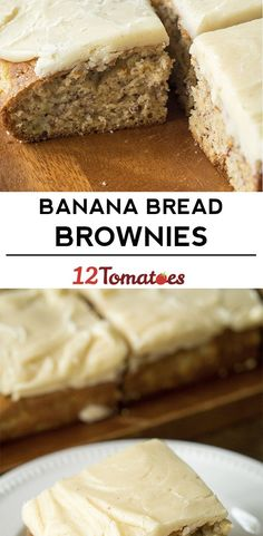 Lose Weight by Eating Banana Bread - Wilson Food & Wine 13 Desserts, Brownie Desserts, Brownie Cookies, Delicious Desserts, Dessert Recipes, Bar Cookies, Bar Recipes, Recipies, Banana Bread Brownies