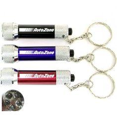Promotional Super Bright LED Flashlight With Swivel Split Keychain Rings - Flashlight Keychains