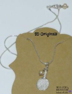 N-170 NoheaCreations. OOAK Handmade. Ping Pong Necklace.Sterling Silver.