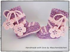 Babyschuhe - Babystiefel  von Maschenlädchen auf DaWanda.com