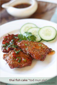 Thai Fish Cake (Tod Mun Pla) | (without the sweet thai sauce)