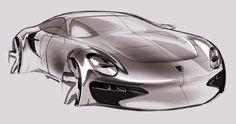 Car design sketches #8 on Behance