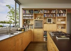 Find ideas and inspiration for Modern Japanese Kitchen Design to add to your own home. Plywood Kitchen, Kitchen Shelves, Kitchen Decor, Open Shelves, Book Shelves, Kitchen Cabinetry, Kitchen Ideas, Modern Kitchen Design, Modern House Design