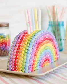 Rainbow Cake smarties Best Picture For easy Birthday Cake For Your Taste You are looking for something, and it is going to tell you exactly what you are looking for, and you didn't find t Homemade Birthday Cakes, Birthday Cakes For Women, Homemade Cake Recipes, Birthday Cake Girls, Rhubarb Cake, Rainbow Birthday Party, Colorful Birthday, Birthday Cake Decorating, Girl Cakes