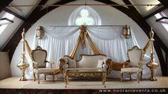 India wedding  decoration | Pakistani Indian asian wedding stage eastern themed weddings events ...