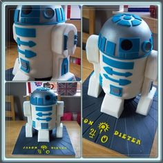 R2D2  Cake by FondantFancies