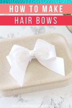 Time to learn how to make hair bows quickly and easily with our simple step-by-step picture tutorial! Activities For Kids, Crafts For Kids, Chore Chart Kids, Diy Shops, Bow Tutorial, Making Hair Bows, Cute Relationships, How To Make Hair, Create Yourself