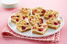 Apple-Cranberry Crumb Bars  This recipe shouldn't be hard to convert to gluten free, and to make it from scratch with a basic cake recipe.