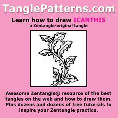 Step-by-step instructions to learn how to draw the Zentangle-original tangle pattern: Icanthis