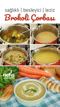 How to Make Broccoli Soup? (with video) - Yummy Recipes - Video narration How to Make Broccoli Soup? (with video) The video description of Broccoli Soup (wit - Rice Recipes, Asian Recipes, Ethnic Recipes, Yummy Recipes, How To Make Broccoli, Perfect Baked Potato, Turkish Kitchen, Cozy Meals, Broccoli Soup