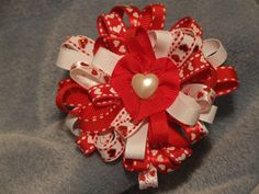 Valentine Sweet Heart Clip Red by ang744 on Etsy, $7.00