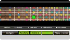 This free game is designed for guitar players who want to practice interval ear training