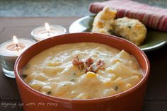 Keeping up with the times: Cheddar Corn Chowder