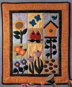 quilted wall hangings | The Garden of Delights Quilted Wall Hanging has all the elements of