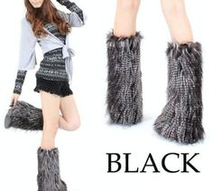 2 Pairs Wholesale Lot WOMEN WARM SOFT COZY FUZZY Fashion Faux Fur Leg Warmers Boots Cuffs Cover for sale