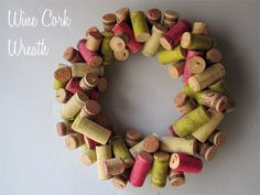 Save your celebration corks and make something festive for next year.  Would be so cute with a wide green velvet ribbon!