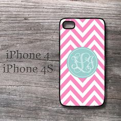 iPhone 4s case  Girl soft teal monogram on cute by MonogramCase