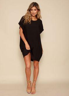 Moon Silk Dress - Black