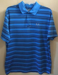 Under Armour Heat Gear Short Sleeve Shirt Polo Golf Loose Fit Size XL Men'S | eBay