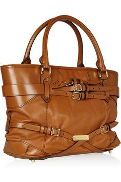 Burberry Lynher leather shoulder bag - net-a-porter.