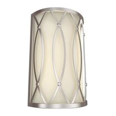 allen   roth 7.87-in W 2-Light Brushed Nickel Pocket Hardwired Wall Sconce