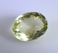 lemon Quartz loose Stone 1 Pieces 14 x 20 mm Oval Yellow faceted Gemstone in Jewellery & Watches, Loose Beads, Gemstone | eBay