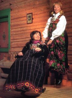 FolkCostume&Embroidery: Bunad and Rosemaling embroidery of Hallingdal, Buskerud, Norway Norwegian Clothing, Norway, Anna, Sari, Celebs, Costumes, Embroidery, How To Wear, Clothes