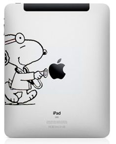Adesivo Ipad Snoopy Doctor- 89IP - FRETE GRÁTIS -  iproducts