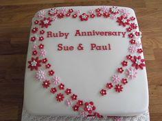 Ruby anniversary cake.
