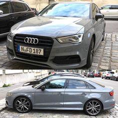 Audi A3 Sedan With Black Opticirrors